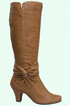 Dressy, comfortable, and cute! What a perfect boot for a sweater dress or other cute dress