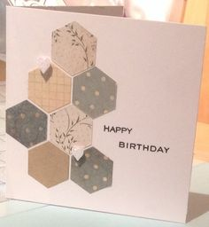 Quick and simple cardmaking using our Die-Namics Hexagon Die and a simple stamped sentiment http://sugarandspicecrafts.co.uk/products/die-namics-hexagon-die