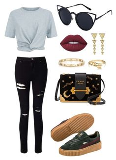 """""""Sem título #5"""" by giovanna-torres-1 on Polyvore featuring Miss Selfridge, T By Alexander Wang, Puma, Prada, Tiffany & Co., Bling Jewelry, House of Harlow 1960 e Lime Crime"""
