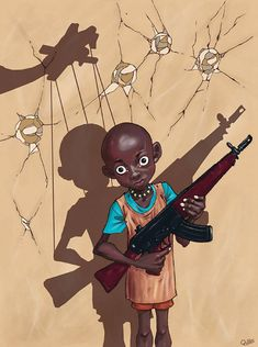 enfant soldat manipulés par Luis Quiles