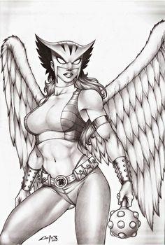 Hawkgirl by carlosbragaART80