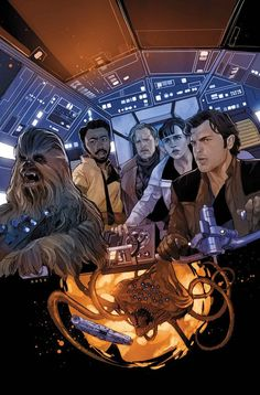 Marvel comics for February: this is the cover for Solo: A Star Wars Story Adaptation drawn by Phil Noto. Star Wars Comics, Star Wars Comic Books, Comic Book Characters, Marvel Comics, Han Solo And Chewbacca, Star Wars Han Solo, Star Wars Poster, Star Wars Art, Comic Book Artists