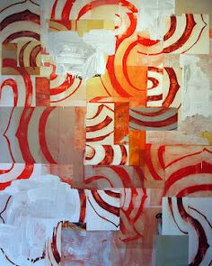 oxane: Hollingsworth cinnamon twist - oil and acrylic on canvas - - 2012 Group Art Projects, Artist Sketchbook, Mail Art, Textures Patterns, Art Lessons, New Art, Collage Art, Fiber Art, Art Drawings