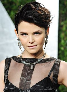 Hot Spring Celebrity Hairstyles: Ginnifer Goodwin. Short hair edgy punk asymmetrical classy