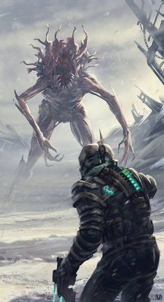 Dead Space - by Nagy Norbert Fanart redesign of Dead Space for the Brainstorm challenge 20 More selected entries [here] Cyberpunk, Dead Space, Video Game Art, Fan Art, Horror Art, Sci Fi Art, Creature Design, Dark Fantasy, Fantasy Creatures