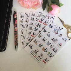 Stickers  kawaii panda tasks I