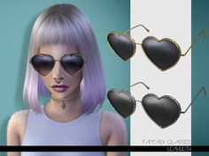 Fantasy Glasses by LeahLilith at TSR via Sims 4 Updates