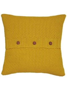 Joules Moss Stitch Cushion, Yellow.                     The comfiest and coolest cushions we've ever designed. Bursting with colour, country charm and thanks to the moss-stitch – a lot of texture. A small crowd of these cushions will soon brighten up any room.