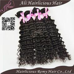 Ms lula virgin unprocessed malaysian hair virgin deep curly wave mixed 4bundles/lot natural color human hair free shipping DHL $88.67 - 253.35