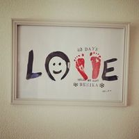 LOVE : 子供の成長記録にも!インスタで大人気の手形&足形アート♡ - NAVER まとめ
