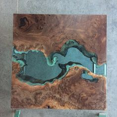 Image of claro walnut burl river coffee table