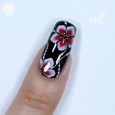 Nail Art Designs, Elegant Nail Designs, Creative Nail Designs, Creative Nails, Fabulous Nails, Perfect Nails, Uñas One Stroke, Nail Art Printer, Nail Art Stencils