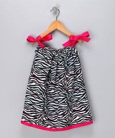 Take a look at the Cozy Bug Black & White Zebra Dress - Infant, Toddler & Girls on #zulily today!