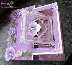 Nelasbasteleien: Purple flowers card