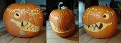 Dinosaur pumpkin