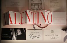 A display of  fashion show ephemera belonging to Valentino is displayed at the Valentino: Master of Couture exhibition at Somerset House on November 28, 2012 in London, United Kingdom. Celebrating the life and work of the  Italian master couturier, the show features over 130 hand crafted designs worn by Hollywood icons and Royalty. The exhibition runs from November 29, 2012 - March 3, 2013.