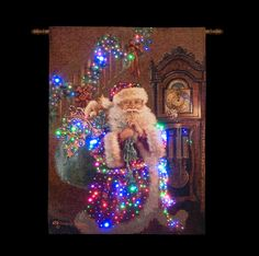 68 best snowtime christmas 2014 images on pinterest christmas 2014 transcon dona gelsinger santa with gift sack fibre optic christmas tapestry aloadofball Image collections