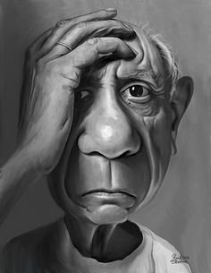 Pablo Picasso | Cartoon: Pablo Picasso (medium) by rocksaw tagged picasso,pablo ...