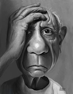 Pablo Picasso   Cartoon: Pablo Picasso (medium) by rocksaw tagged picasso,pablo ...