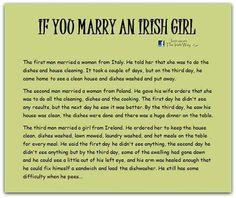 I love being a 4th generation Irish-Italian woman!