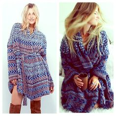 FREE PEOPLE Cape Stripe Cardigan NWT NWTAND COZY FANTABULOUS! Retail $168. Sold Out at freepeople.com.  Free People Sweaters Cardigans