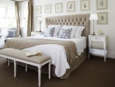 Linen Buttoned Bedhead Package - Complete Furniture Packages