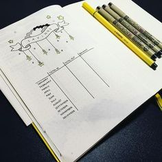 Bullet journal yearly savings tracker, lightbulb drawings. @bonbujo