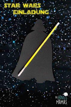 So kannst du einen effekvolle, einfache und günstige Darth Vader Einladung für deine Star Wars Party basteln! How to make an effectual, easy Darth Vader invitation for your Star Wars Party with few money!