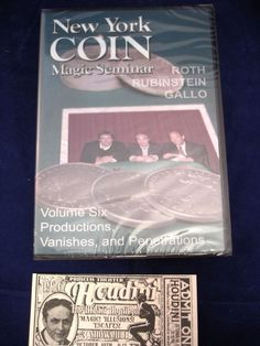 DVD NEW YORK COIN MAGIC SEMINAR ROTH RUBINSTEIN GALLO VOL.6 Please check out all our rare value priced Magic tricks & Books at: http://stores.ebay.com/webrummage
