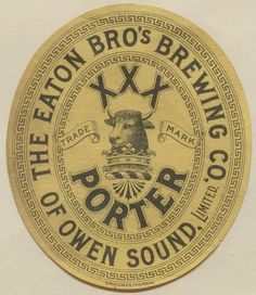 Porter by Thomas Fisher Rare Book Library Beer Packaging, Vintage Packaging, Vintage Labels, Vintage Postcards, Vintage Ads, Vintage Designs, Design Packaging, Label Design, Package Design