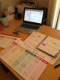 Getting organised for the week with my iCal, Erin Condren Life Planner, Weekly Planner and Chore Chart. @Erin B condren Get $10 off your first order HERE - https://www.erincondren.com/referral/invite/jokavanagh
