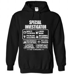 Special Investigator - #crop tee #cozy sweater. WANT THIS => https://www.sunfrog.com/LifeStyle/Special-Investigator-1905-Black-Hoodie.html?68278