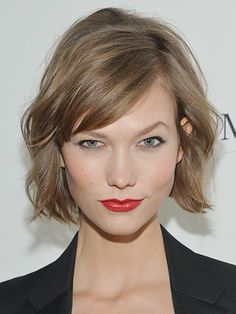 Karlie Kloss' bob works well with her gamine charm
