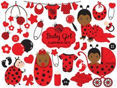 ITEM: Baby Ladybug Clipart - Vector Baby Ladybug Clipart, Baby Shower Ladybug Clipart, Ladybird Baby Girl Clipart, Baby Ladybug Clip Art for Personal and Commercial Use WH. Baby Girl Clipart, Baby Shower Clipart, Cute Baby Girl, Cute Babies, Mermaid Clipart, Baby Ladybug, African American Babies, American Baby, Girls Clips