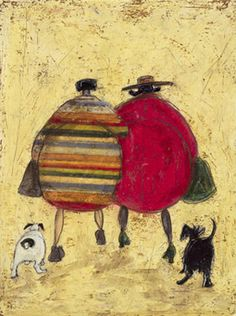 Old Friends Going Home. Sam Toft, English Artist.
