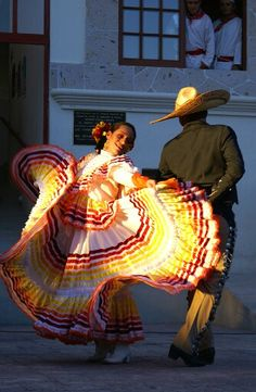 jarabe tapatio (the mexican hat dance) performance, jalisco, mexico