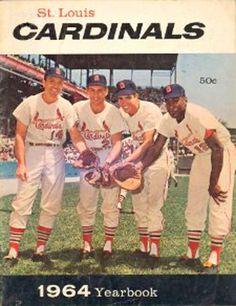 St. Louis Cardinals Yearbook, 1964. Left to right: Ken Boyer, Dick Groat, Julian Javier, Bill White.