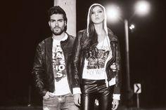 TSHIRT + LEATHER! No olvides que esta fabulosa combinación, es el look perfecto para una noche rebelde; pero también casual.  www.voltta.com.co Punk, Street Style, Fictional Characters, Fashion, The Outsiders, Night, Moda, Urban Style, Fashion Styles