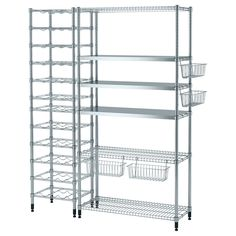 Shop pantry organizers and shelves at IKEA. Our selection of shelves, baskets and wall units are perfect for organizing your pantry. Kitchen Storage, Storage Spaces, Ikea Kitchen Pantry, Bakery Kitchen, Kitchen Board, Art Storage, Storage Cabinets, Kitchen Island, Ikea Omar