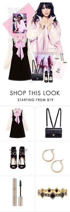 """""""Private School Cool"""" by blaspheme ❤ liked on Polyvore featuring Gucci, Chanel, Paul Andrew, Nordstrom, By Terry and Cathy Waterman"""