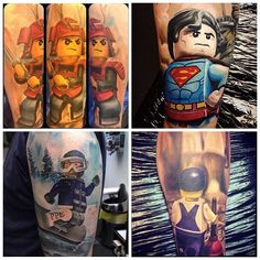 "@TattooistArt Magazine's photo: ""I shared a Lego tattoo the other day done by @maxpniewski and thought in sharing some more of his rad Lego tattoos. For more Legolism, check his page."""