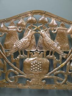 Liberty & Co Arts and Crafts Voysey Bird Firescreen in Liberty & Co