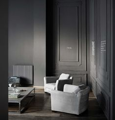 Poltrona in pelle Diner Baxter Furniture, Gray Color, Colour, Armchair, Diner, Contemporary, Living Room, Interior, Table