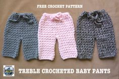 Crochet baby pants free pattern