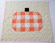 Find the crochet pattern for this gingham granny square pumpkin blanket below. This pumpkin blanket is perfect to throw on your sofa during the fall season. The granny squares give it a quilt look that is so inviting and cozy! The squares are super quick and easy to make – perfect for on the go...Read More Crochet Borders, Crochet Blanket Patterns, Baby Blanket Crochet, Crochet Afghans, Crochet Blankets, Baby Blankets, Blue Crayon, Easy Crochet Projects, Crochet Ideas