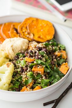 A Feel Good Lunch Bowl: Starts with Cumin Lime Black Bean Quinoa Salad http://ohsheglows.com/2013/07/19/cumin-lime-black-bean-quinoa-salad-quick-easy/