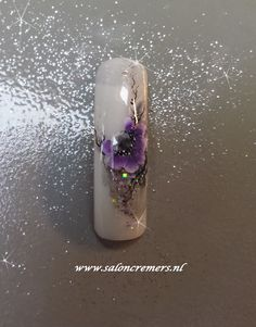 one stroke nail art flower