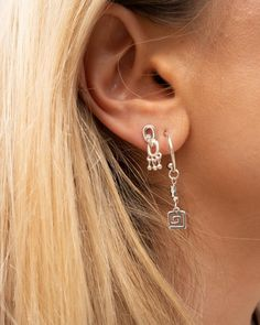 Blair Chain Shaker Studs- Silver (Ships Mid September) | Luv Aj