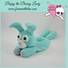 Bunny Lovey Amigurumi by Forever Stitchin