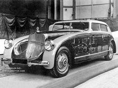 1932 Maybach Zeppelin Spohn Stromlinie, V12, semi-auto 5speed, vacuum assist brakes, spares behind front fenders, central locking,